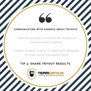 share tryout results