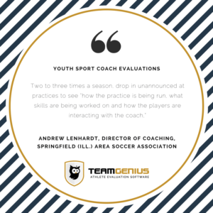 Youth Sport Coach Evaluations Drop In Practice