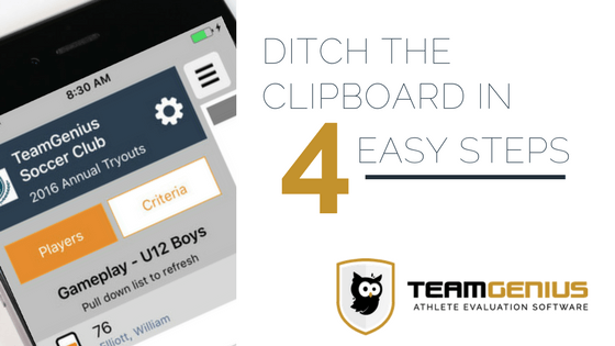 Ditch the Clipboard with player evaluation software