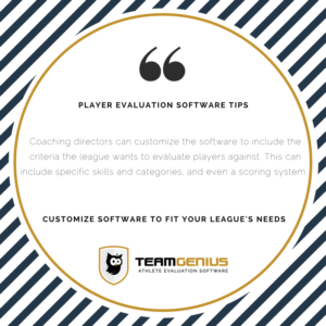customize player evaluation software