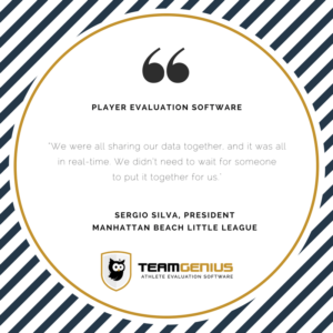 Player evaluation software works in real time