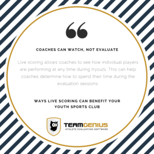 Benefits of Live Scoring for youth sports club