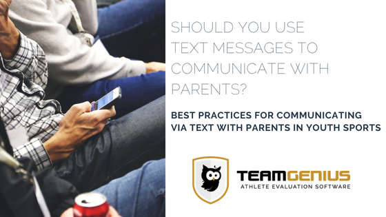 Should you text parents in youth sports