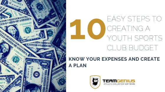Creating a budget for your youth sports team can be easy