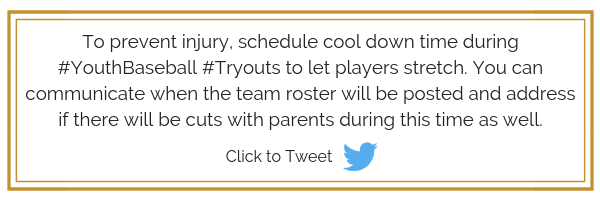 Tips for running baseball tryouts