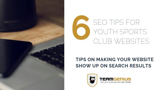 club sports website seo tips