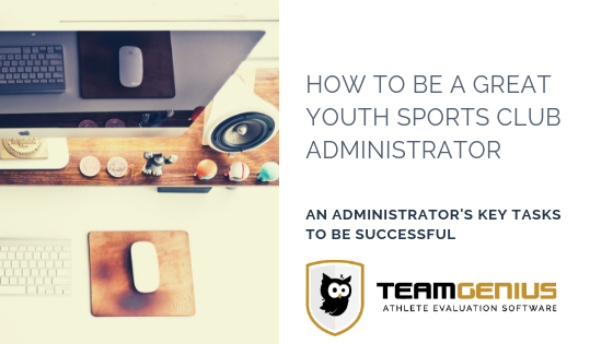 how to be a youth sports admin