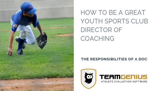how to be a director of coaching