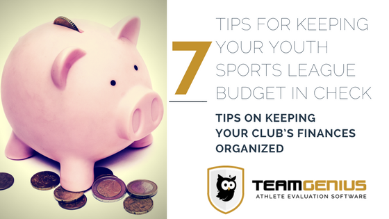youth sports club budget