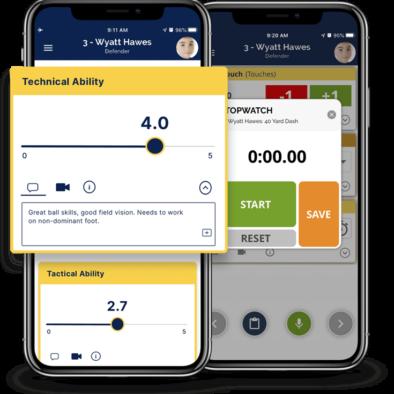 Athlete evaluation mobile app - TeamGenius