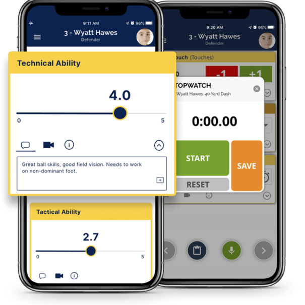 Athlete evaluation mobile app - TeamGenius